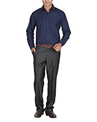 LAGNESH Men's Long Sleeve Shirt (Blue, 44)