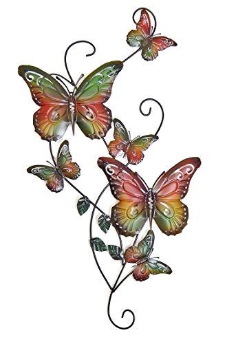 NEW Metal Wall Decor Butterfly Sculpture 29x15