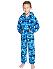 Hooded Reindeer Fleece Onesie