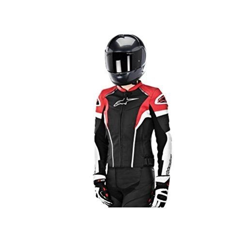 Alpinestars Stella GP Plus R Leather Womens Jacket, Gender: Womens, Primary Color: Black, Size: 40, Apparel Material: Leather, Distinct Name: Black/White/Red 3110514-123-40