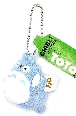 "Studio Ghibli My Neighbor Totoro 1.5"" Blue Totoro Plush with Chain - 1"