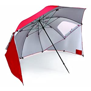 Plantation Patterns 9 ft. Chili Red Market Umbrella-DISCONTINUED