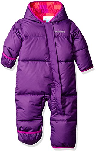 Columbia Baby Girls' Snuggly Bunny Bunting, Iris Glow/Bright Plum Plaid, 12-18 Months