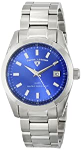 Swiss Legend Men's 21398-33 Classic Blue Dial Stainless Steel Watch