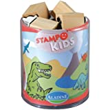 Aladine, Dinosaur Themed Rubber Stamps, Set of 15 Plus 1 Ink Pad