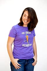 No Meat Athlete Women's Purple Ring-Spun Cotton Tee