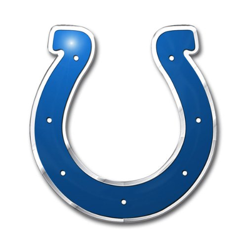 NFL Indianapolis Colts Die Cut Color Automobile Emblem (Colts Auto Emblem compare prices)