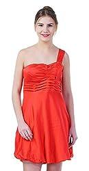 merch21 Women's Dress (MERCH-397-RED, Red, Large)