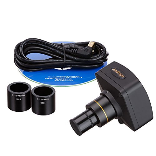 AmScope-MU1400-14MP-Digital-Microscope-Camera-for-Still-and-Video-Images-40x-Magnification-05x-Reduction-Lens-Eye-Tube-or-C-Mount-USB-20-Output-Includes-Software