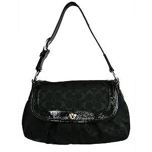 Coach Soho Pleated Signature Large Flap Hobo Handbag