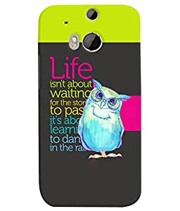 Fuson 3D Printed Quotes Designer back case cover for HTC One M8 - D4127