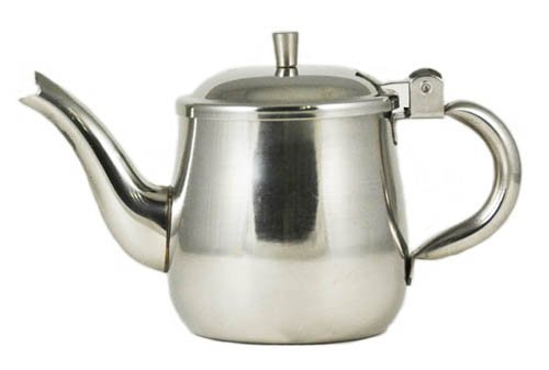 10 oz. (Ounce) Gooseneck Single-Serving Teapot, 18/8 Gauge Stainless Steel Set of 6 (Single Serving Teapot compare prices)