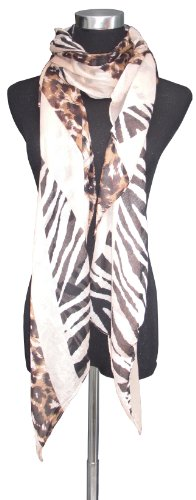 Large Union Jack Flag with Animal Print Chiffon Scarf or Sarong.