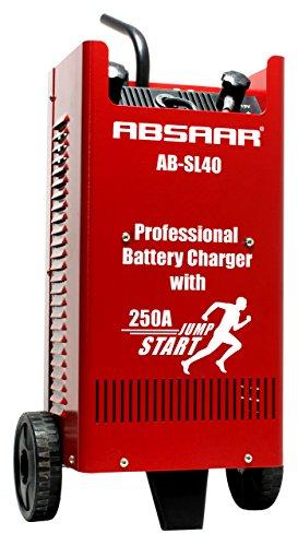 ABSAAR AB-SL40 Professionelles Batterieladegerät SL40 inklusiv Ladekabel mit isolierten Klemmen und Griffen