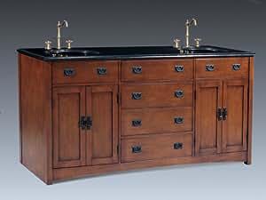 Brogan (double) 72-Inch Mission Style Bathroom Vanity