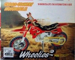 Cross-Country Motorcycle Color Wooden Puzzle - Wooden Construction Kit - 1