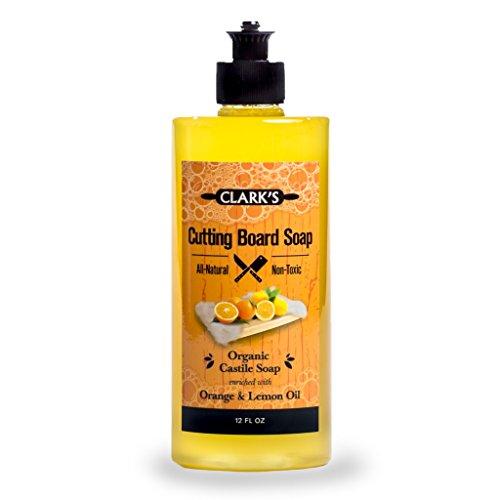 CLARK'S Cutting Board Soap (12oz) | Enriched with Lemon & Orange Oils | Organic & 100% Natural | Butcher Block Cleaner (Butcher Block Oil Organic compare prices)