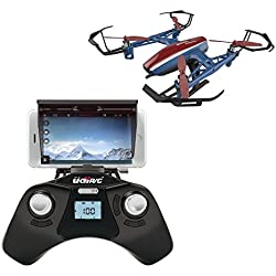 U28W Wifi FPV Drone w/ Altitude Hold | Wide Angle HD Camera and Live Video + Remote Control | For Aerial Photography, Easy to Fly for Expert Pilots & Beginners | Bonus Battery | Great Gift Idea