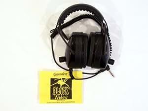 DetectorPro Black Widow Headphones for Metal Detecting