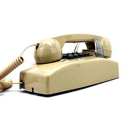 Wall Phone, Single-line, 2554 Traditional style analog telephone, Beige color. Must have Wall Jack for your installation (Wall Units Antique White compare prices)