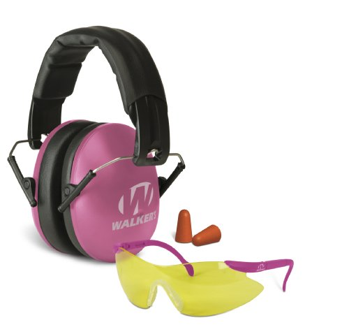 Walkers Game Ear Gwp-Ywfm2Gfp-Pnk Women'S Muff Combo Kit, Pink, Left/Right