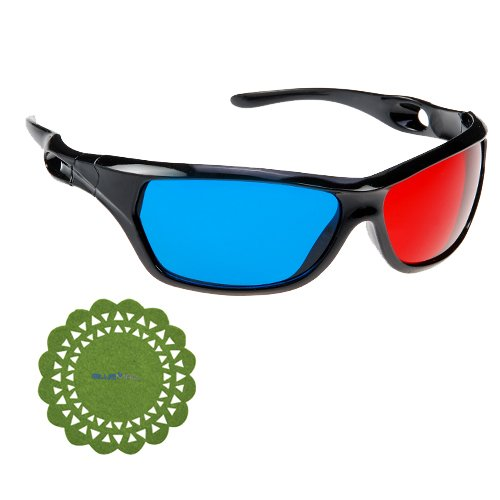 GTMax Anaglyph style 3D Red/Cyan Glasses for