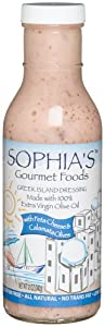 Sophia's Gourmet Foods Greek Island Dressing with Feta Cheese & Calamata Olives, 12-Ounces Bottles (Pack of 6)