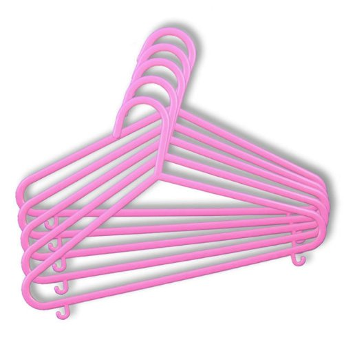 54 CHILDRENS PINK PLASTIC COAT HANGERS FOR KIDS CLOTHES - 30CM