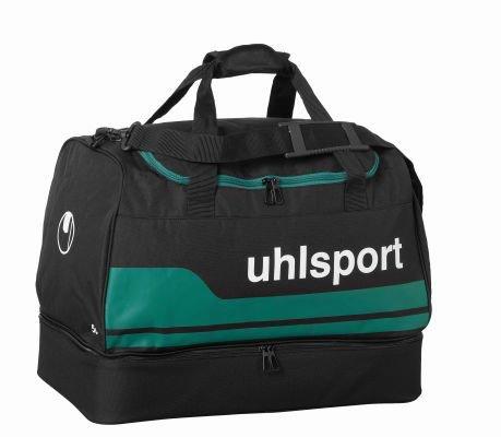uhlsport 100424505_Schwarz/Lagune_S - Borsa sportiva unisex, S, colore: Multicolore Schwarz/Lagune