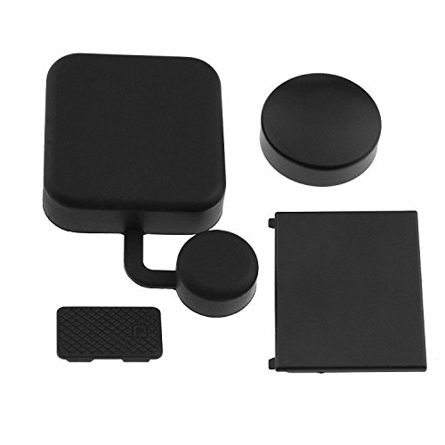USAbestdeal discount duty free 4 PCS of Camera Accessories for Gopro Hero 4 / 3+, Including: Camera Lens Cover, Standard Protect Housing Lens Cover, Replacement Battery Door and Replacement Side Door