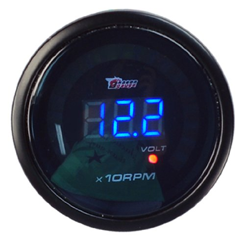 New Auto Car 2 Inches52Mm Digital Color Analog Led Tacho Tachometer Meter Gaug