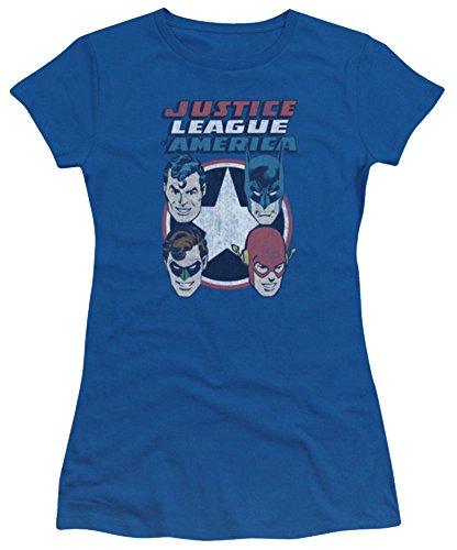 Justice League 4 Stars Ladies Junior Fit T-Shirt