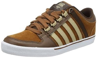 K-Swiss Alvary S VNZ 03103-235-M, Herren Sneaker, Braun (Cowboy/Cathay spice/Desert/White), EU 40 (UK 6.5)