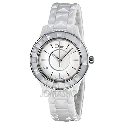 Christian Dior VIII White Ceramic and Stainless Steel Ladies Watch CD1231E2C001 by Christian Dior