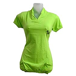 Revin green double pocket hand and bottom elastic slim fit tshirt