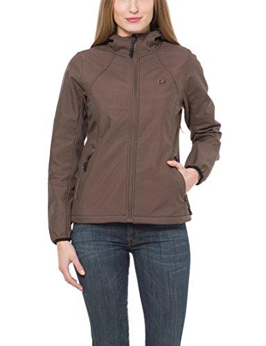 Ultrasport Outdoor Softshell Estelle - Chaqueta para señora con Ultraflow 5.000, color marrón, talla L