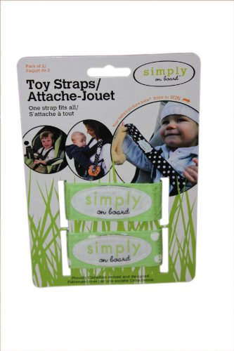 Simply on Board 2 Pack Toy Strap, Green