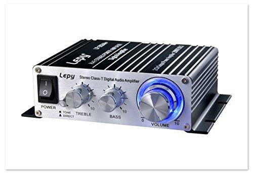 最新 Lepy(lepai)デジタルアンプ LP-2024A+  ブラック