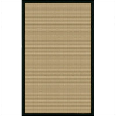 Hand-woven Contemporary Sisal Bay Black Rug Size: 5' x 8'
