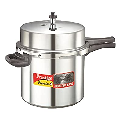 Prestige Popular Plus Induction Base Pressure Cooker, 12 Litres
