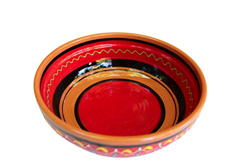 Terracotta Red, Deep Dish - Hand Painted From Spain (Mexican Salsa Plate compare prices)
