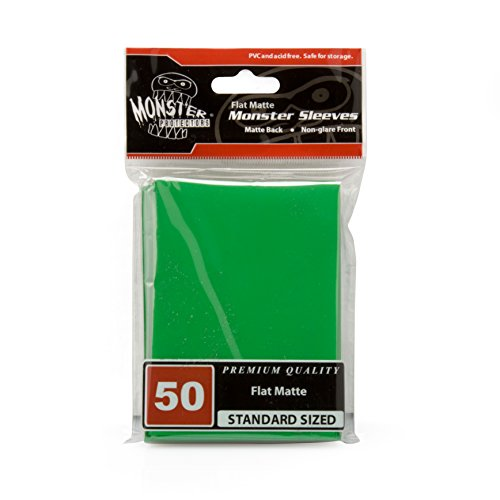 Sleeves - Monster Protector Sleeves - Standard MTG Size Flat Matte - GREEN (Fits Magic and Standard Sized Gaming Cards)