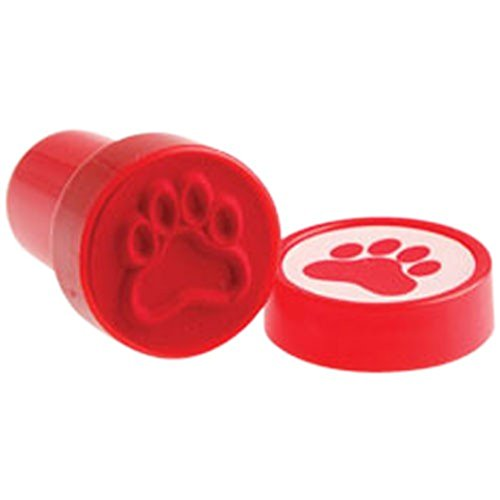 Lot Of 6 Red Dog Puppy Paw Print Mini Stampers