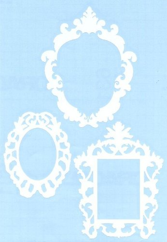 White Frame Decor Wall Decals by Hambly