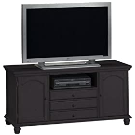 Tall Wide Screen Tv Stand 2-door Black