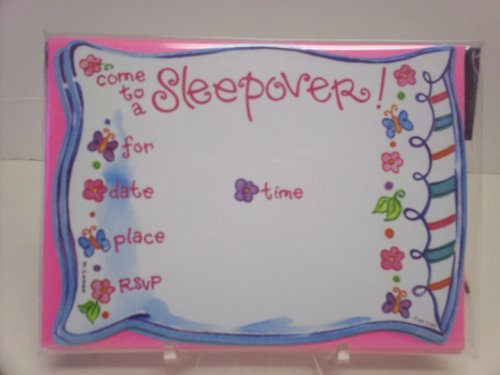 16pc Sleepover Party Invitations - Cards & Envelopes