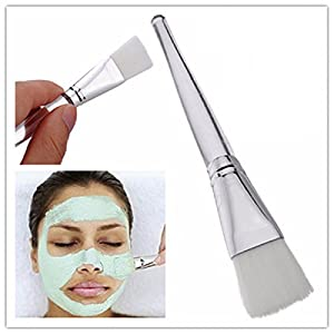 LuckyFine 1X Clear Handle Facial Face Skin Care Mud DIY Masks Soft Applicator Mixing Brush