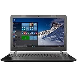 """Lenovo Ideapad 100-15IBY - Portátil de 15.6"""" (Intel Celeron N2840, 4 GB de RAM, Disco HDD de 500 GB, Intel HD Graphics, Windows 10 Home), color negro -Teclado QWERTY Español"""