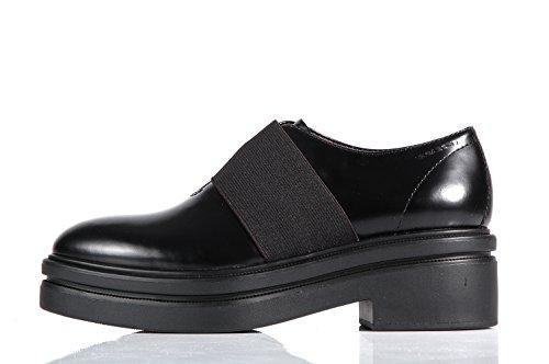 Vagabond Iza Platform black shoes with elastic band - Scarpe nere suola alta con elastico