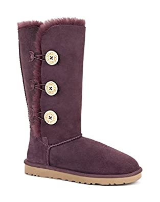 UGG Australia Womens Bailey Button Triplet Boot Port Size 5